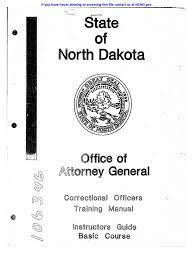 north dakota co training manual prison crime u0026 justice