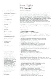 resume web developer resume india 1 2 page version example