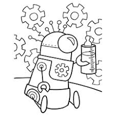 20 cute free printable robot coloring pages