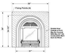 Standard Fireplace Dimensions by Windsor Small Victorian Style Gas Insert