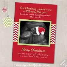 christmas pregnancy announcement digital card 4x6 by sprinkledjoy