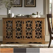 60 inch console table gwen 60 inch glass front console table buffet server by inspire q