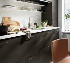 ikea black brown kitchen cabinets askersund plinth brown ash effect 220x8 cm
