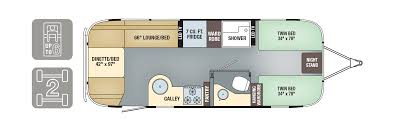 Twin Bed Size In Feet Floorplans Flying Cloud Airstream