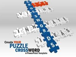 puzzle crossword a powerpoint template from presentermedia com