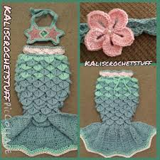 crochet mermaid tail pattern pdf instant download chevron