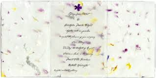 paper invitations invitations handmade for weddings seed paper pressed flowers