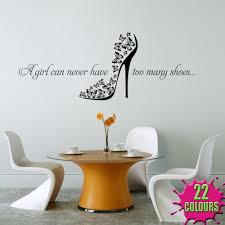 too many shoes wall stickers u0026 decals