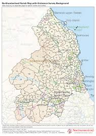 England County Map by Northumberland County Council Map Library