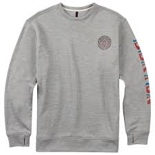 burton oak crew monument heather 2018 purchase sweatshirt with