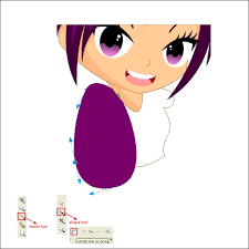tutorial corel draw menggambar kartun drawing an anime cartoon in corel draw