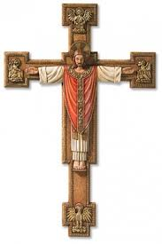 large crucifix large christus rex wall crucifix