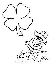 patrick u0027s day coloring pages leprechaun and shamrock