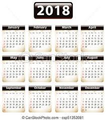 Calendario 2018 Feriados Portugal Gráfico Vectorial De Calendario 2018 Inglés Papeles Rasgado