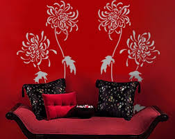 stencils for home decor chrysanthemums wall stencil reusable easy diy home decor wall