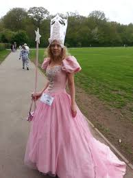 good witch plus size costume glinda the good witch home made from an old wedding dress and