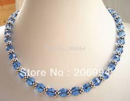 crystal design necklace images Designer necklace 18 39 39 genuine blue glass crystal tibet silver jpg