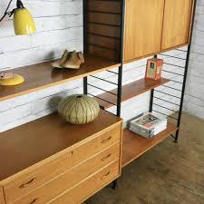 vintage ladderax modular shelving unit mustard vintage
