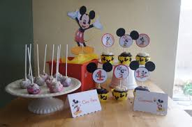 Mickey Mouse Table by Mickey Mouse Candy Dessert Table Labels