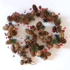pine cone garland by country notonthehighstreet
