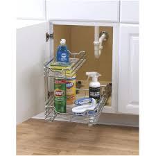 kitchen cabinets baskets kitchen cabinet under shelf basket monsterlune