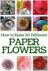 All Types Of Flowers List - how to make 20 different paper flowers paper flower tutorial