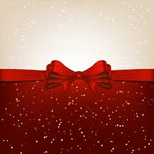 christmas background with ribbon vector free download