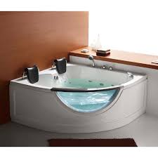 steam planet mg015 59 in two person corner whirlpool tub hayneedle