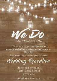 elopement invitations elopement party invitations reception only invitations