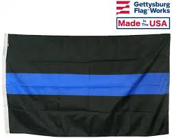 Texas Flag Half Staff Thin Blue Line Flag