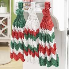 herrschners christmas ripple hand towels crochet yarn kit