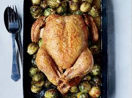 whole roast chicken with 40 brussels sprouts recipe chun