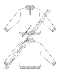 v32 childrens mock neck sweater illustrator flat fashion sketch