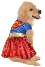 halloween dog shirts amazon com dc comics pet costume x large supergirl dog