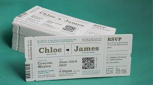 ticket wedding invitations wordings airline ticket themed wedding invitations plus plane