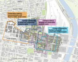 University Of Pennsylvania Campus Map by Vibrant University District Strategic Planning Drexel University