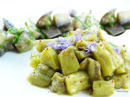 cuisine aubergines salade d aubergine cuite sous vide à basse température cuisson