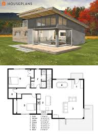 Lake Home Plans Narrow Lot Small Modern Cabin House Plan By Freegreen Energy Efficient