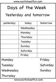 days of the week homeschool pinterest next day printables