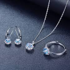 gemstone jewelry necklace images Hutang natural december birthstone blue topaz solid 925 sterling jpg
