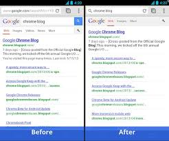 chrome for android updates search on chrome for android