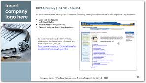 hipaa security awareness and workforce training powerpoint ppt