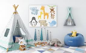 decoration de chambre d enfant idée déco de chambre d enfants le thème des images d animaux