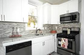 Small Kitchen Remodel Featuring Slate Tile Backsplash by 26 Small Kitchens With White Cabinets Designing Idea