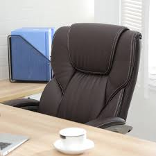 Executive Brown Leather Office Chairs Amazon Com Belleze High Back Executive Pu Leather Office Chair