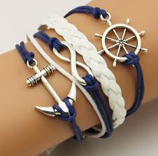 anchor bracelet women images Weaving wholesale fashion ancient silver boat anchor ship rudder jpg