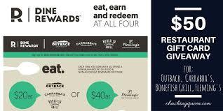 fleming s gift card dine rewards loyalty program 50 restaurant gift card giveaway