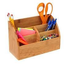 Bamboo Desk Organizer Mind Reader 5 Compartment Bamboo Desk Organizer 8572719 Hsn