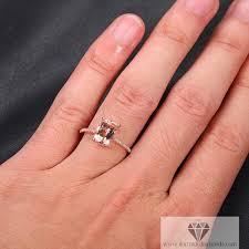 morganite gold engagement ring cushion cut morganite engagement ring gold diamond pave