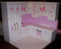 18 inch doll kitchen furniture no sew dress wooden drawers and